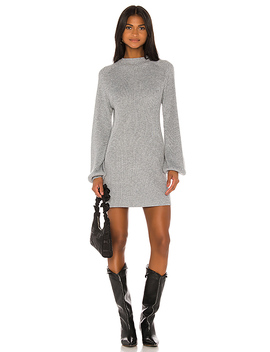 Erin Sweater Dress In Grey by Song Of Style