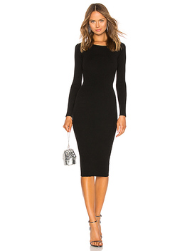 Auburn Sweater Dress In Black by Lpa