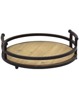 12 X4 In Wood Metal Tray12 X4 In Wood Metal Tray by At Home