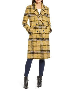 Longline Plaid Coat by Sam Edelman