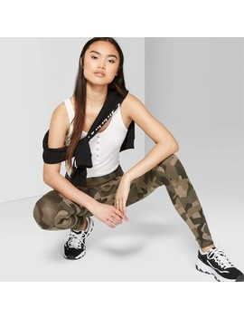 Women's Camo Print High Rise Leggings   Wild Fable™ Olive by Wild Fable