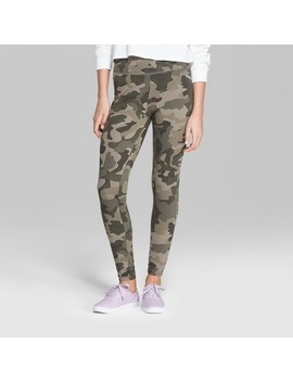 Women's Camo Print High Rise Leggings   Wild Fable™ Green by Wild Fable