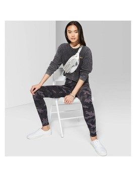 Women's Camo Print High Rise Leggings   Wild Fable™ Gray by Wild Fable
