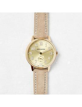 Field Suede Watch, Gold by Jack Mason