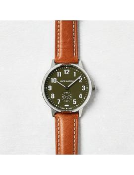 Field Leather Watch, Olive by Jack Mason