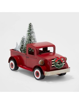 Small Truck With Christmas Tree Decorative Figure Red   Wondershop™ by Shop This Collection