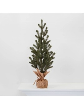 "24.25"" Burlap Wrapped Plastic Natural Tree   Wondershop™ by Shop Collections"