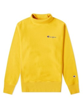Champion Reverse Weave Women's Small Script Logo Mock Neck Sweat by Champion Reverse Weave