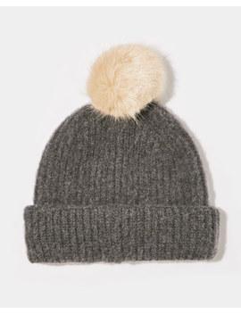 Brushed Pom Hat by Jigsaw