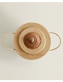 Large Round Basket With Lid by Zara Home