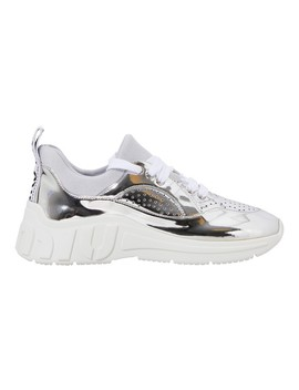 Metallic Sneakers by Miu Miu