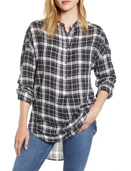 Plaid Popover Tunic Shirt by Alex Mill