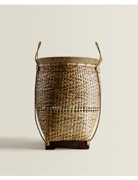 Bamboo And Rattan Basket by Zara Home