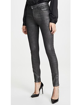 Maria Coated High Rise Skinny by J Brand