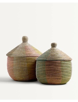 Multicoloured Basket by Zara Home