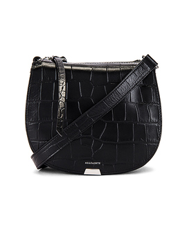 Polly Small Round Crossbody In Black by Allsaints