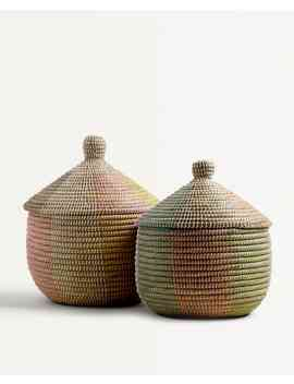 Large Multicoloured Basket by Zara Home