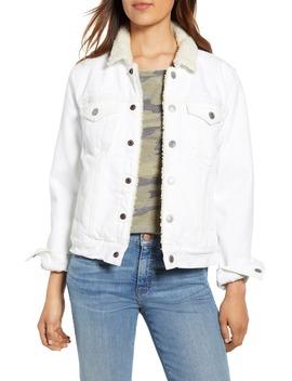 Tomboy Fleece Collar Trucker Jacket by Lucky Brand