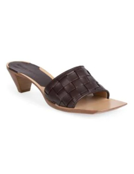 Bloc Woven Leather Mules by Bottega Veneta