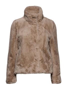 Faux Fur Jacket by Mango