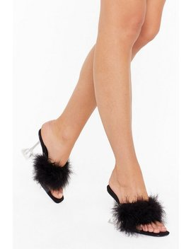 Birds Of A Feather Perspex Stiletto Mules by Nasty Gal