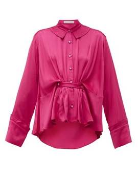 Rise Belted Satin Shirt by Palmer//Harding