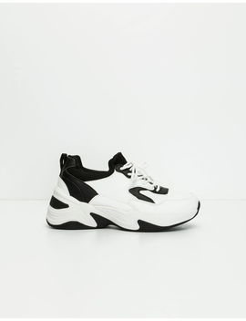 White Contrast Chunky Trainers by Tally W Ei Jl
