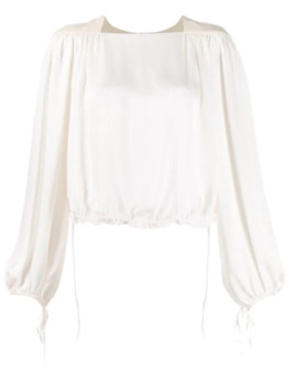 Gathered Cropped Blouse by Lanvin