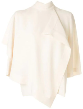 Draped Design Blouse by Akira Naka