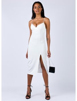 Tulk Midi Dress White by Princess Polly