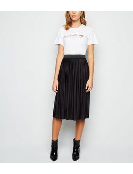 Jdy Black Pleated Midi Skirt by New Look