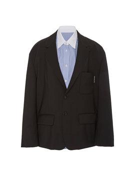 Shirt Paneled Wool And Mohair Blend Blazer by Alexander Wang