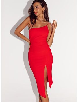 Aero Midi Dress Red by Princess Polly