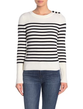 Striped Merino Wool Pullover Sweater by Frame Denim