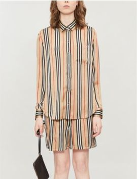Icon Stripe Printed Silk Shirt by Burberry