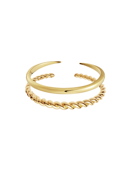 Gold Twist And Claw Bracelet Set by Missoma