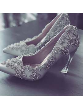 Frozen Ice Wedding Shoes, Rhinstone Collections On Top, Event Shoes, Pumps, Bridal Shoes by Etsy