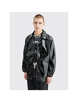 Needles Patent Leather Coach Jacket Black by Très Bien