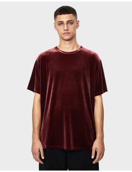 T Shirt En Velours by Bershka