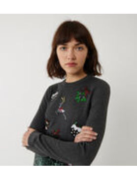 Sequin Christmas Jumper by Warehouse