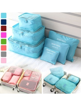 6 Pcs/Set Square Travel Luggage Storage Bags Clothes Organizer Pouch Case by Wish