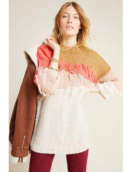 Marlene Fringed Tunic Sweater by Veroalfie