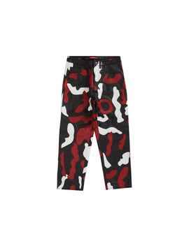Supreme Camo Leather 5 Pocket Pant Red Camo by Stock X