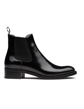 Botte Chelsea En Cuir Fumé Poli Noir by Church's Footwear