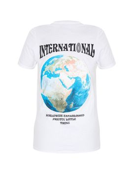 White International T Shirt  by Prettylittlething