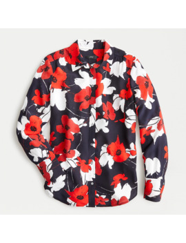 Classic Fit Boy Shirt In Navy Poppy Floral Print by J.Crew