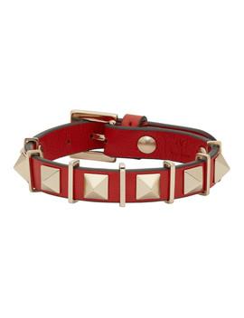 Red Valentino Garavani Rockstud Hardware Bracelet by Valentino