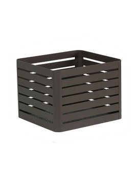 "Small Slatted Metal Bin With Mesh Bottom 8""X10""   Project 62™ by Project 62"