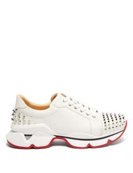 Vrs 2018 Studded Low Top Leather Trainers by Christian Louboutin