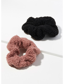 Bouclé Like Scrunchies Set Of 2 by Simons
